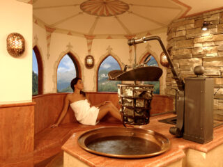 sauna pietra e fuoco - centro benessere Acquaviva, Trentino
