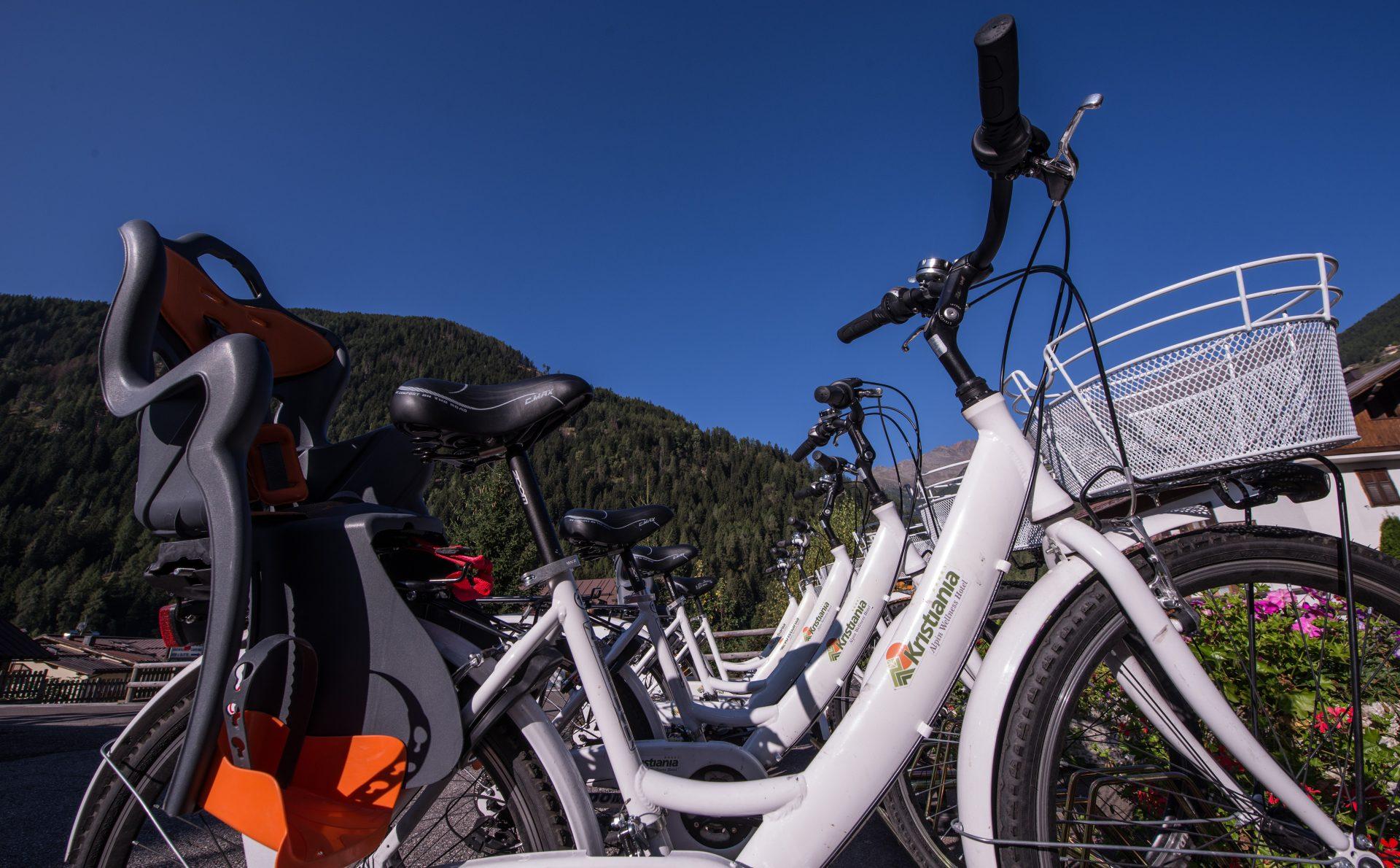 Immagine di testata per Bike hotel service per escursioni in bici a Pejo, Val di Sole